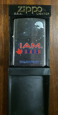 ZIPPO Lighter - I AM CANADIAN - Molson New in Tin Unfired Made in Canada