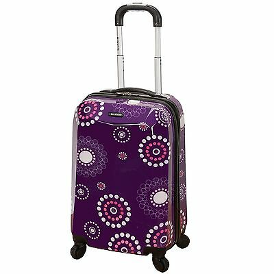 Rockland Vision Light Hardside Spinner Carry-On Luggage - Purple Pearl