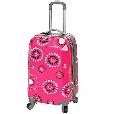 Rockland Vision Light Hardside Spinner Carry-On Luggage - Pink Pearl