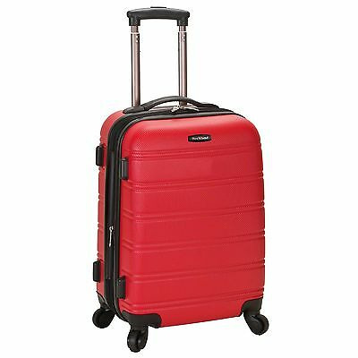 Rockland Luggage Melbourne Series Carry-On Upright - Red