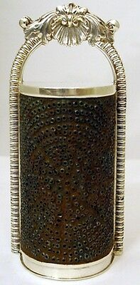 A fine 17th century form sterling nutmeg grater, London 1814