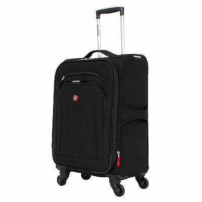 "Wenger SwissGear SA7291 20"" Spinner Expandable Upright Carry-On Suitcase - Black"