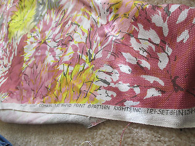 Eames COHAMA Fabric Vintage Material 5 Yards 50s60s Mid Century Barkcloth Style