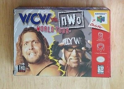 N64 WCW vs. NWO: World Tour  (Nintendo 64, 1997) Complete in box + Players Guide