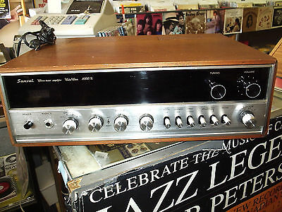 VINTAGE - SANSUI 1000X STEREO RECEIVER-WORKS WELL-SERVICED