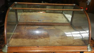 Antique General Store Counter Top Curved Advertising Display Case
