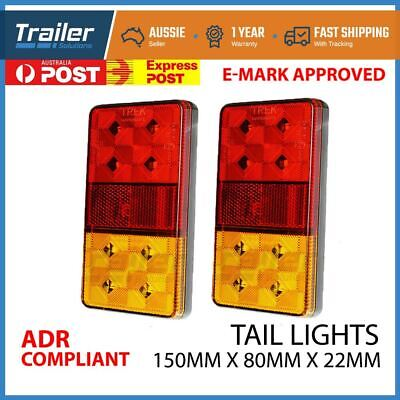 2x LED TRAILER LIGHTS TAIL LAMP STOP INDICATOR 12V VOLT 4WD 4X4 BOAT SUBMERSIBLE