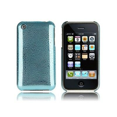 New Light Blue Droplet Design Hard Case & LCD Protector for Apple iPhone 3G 3GS