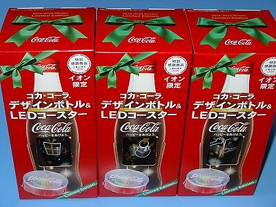 Coca Cola Japan 2014-2015 Winter Limited Edition Christmas Bottle set of 3