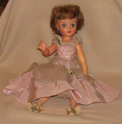 """Vintage Eegee 19"""" Miss Debutante Doll with Prom Dress & Shoes"""