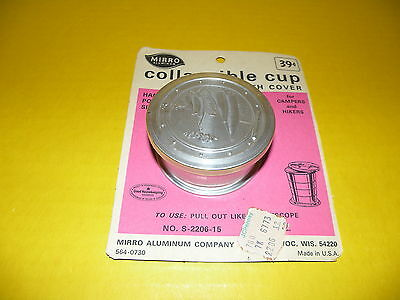 Vintage Mirro Folding Collapsible Camper's Aluminum Travel Cup Hiking Trail Camp