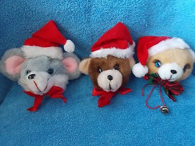 Lot of 3 * Christmas Around The World * Animal Door Knob Covers