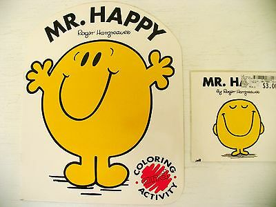 Lot Mr. Happy Roger Hargreaves kids story picture + activity/coloring book Men