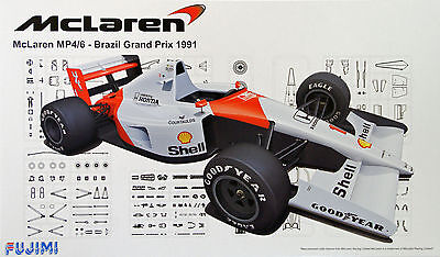Fujimi GP53 F1 McLaren MP4/6 Brazil GP 1991 1/20 scale kit