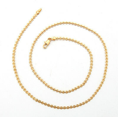 Shiny 18K Solid Yellow Gold GF Necklace Chain For Man As Gifts C152