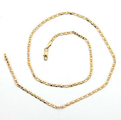 Shiny 18K Solid Yellow Gold GF Necklace Chain For Man As Gifts C149