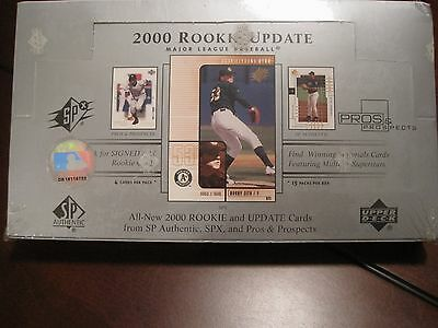 2000 Upper Deck Rookie Update Baseball Hobby Box(SP Auth-SP-X-Pros & Prospects)