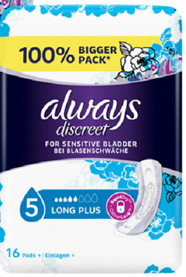 Always Discreet Long Plus Pads 16