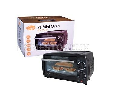 9L 800W Mini Oven Toast Toaster Table Top Grill Portable Bake Baking Caravan 400
