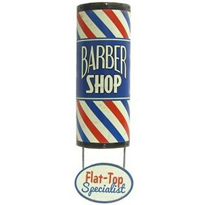 BARBER SHOP POLE Flat Top SIGN Shave Oster Clippers Hair Comb Nail Polish Mobil*