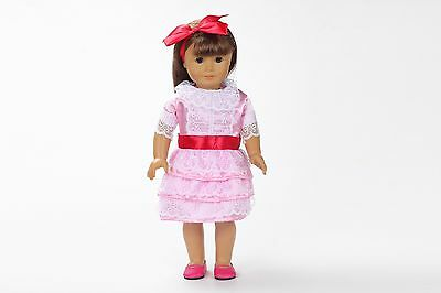 model Handmade lovely Dress Clothes for 18 inch American Girl Doll x142