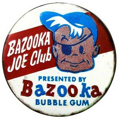 Embossed BAZOOKA BUBBLE GUM SIGN Cartoon Comic Coke Candy Vintage Style Mobil
