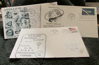 Collection Of First Day Issue Covers-NASSA-Gemini-Mercury-Appolo 11 & 12