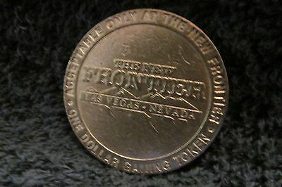 Vintage The New Frontier One Dollar Gaming Token