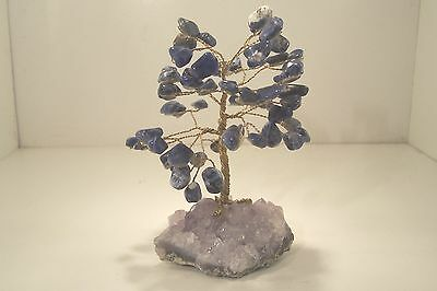"""""""Tree of Life"""" with Sodalite Gem Stones  7004 #3"""