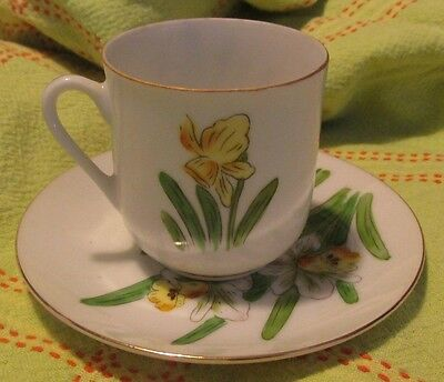 Vintage LJ Demitasse Cup And Saucer + 3 Extra Saucers New Old Stock!