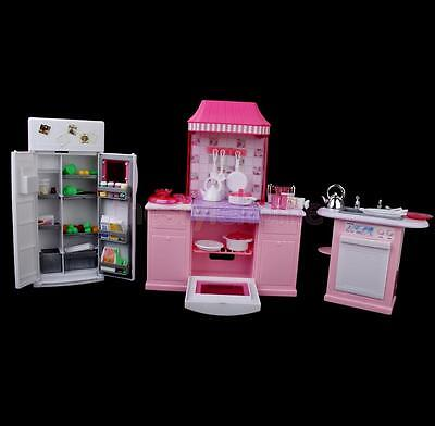 Dollhouse Doll Furniture For Barbie's Room Playset Toy House Kitchen set