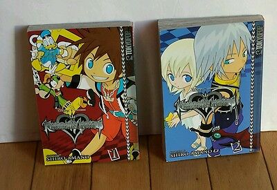 Disney Kingdom Hearts Chain of Memories book set Volume 1 and 2 EUC
