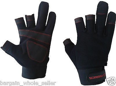 Mechanics Safety Hand Protection Carpenters Washable Fingerless Working Gloves