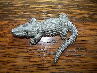 PEWTER ALLIGATOR REPTILE FIGURINE - MADE BY SPOON