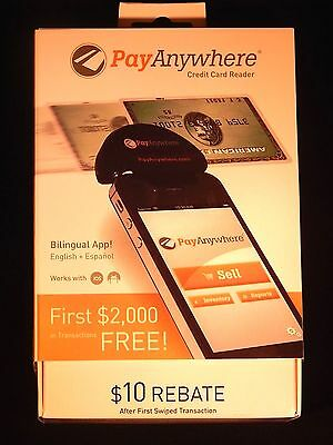 PayAnywhere Credit Card Reader With $10 Rebate & 1st $2,000 Free Transactions!!!