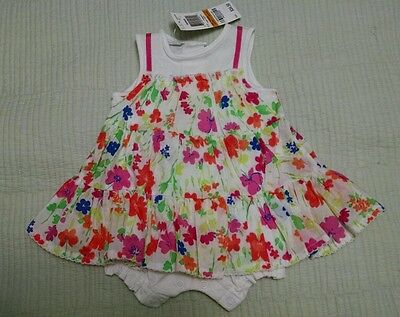 NWT Infant Girls' FIRST IMPRESSIONS Floral Dress, SIZE 0-3 Months 100% Cotton