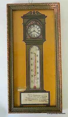 Vintage 1940's Atlas Tires & Batteries ADVERTISING THERMOMETER Detroit FREE SHIP