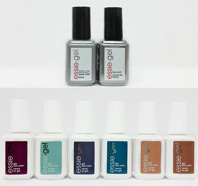 Essie Soak-Off GEL- FLOWERISTA Collection- 6 colors 901G - 906G & Base,Top