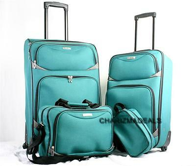 TAG CORONADO II GREEN LUGGAGE SET 4 PIECE WITH CARRY ON 2  2