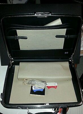 Vintage American Tourister Black Hard Shell Briefcase/Attache case - Never Used.
