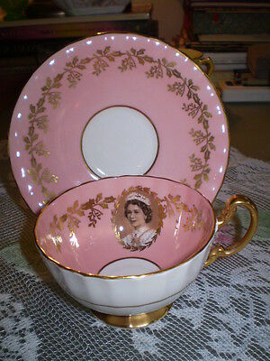 Aynsley  CUP & SAUCER,  Queen's visit to Canada
