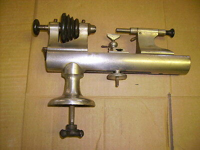 ANTIQUE E. RIVETT SPECIAL WATCHMAKERS / JEWELERS LATHE NICKEL PLATED RARE