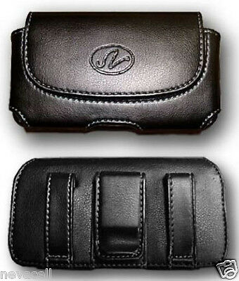 Leather Case Pouch Holster for ATT Samsung Rugby 2 A847, Verizon Convoy 2 U660