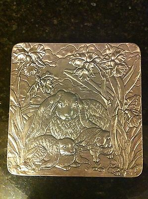 Arthur Court  Square Tray with Rabbit Motif