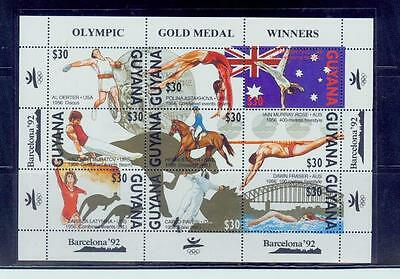 guyana/1992 barcelona olympic gold medal winners series* /mnh.good condition