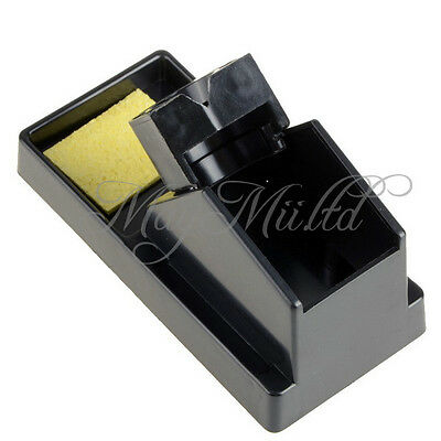 Hot Sale Black Rectangle Metal Resin Base Plastic Solder Iron Stand Holder
