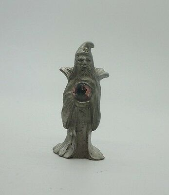SPOONTIQUES Fine Pewter WIZARD w/ Crystal Sphere Ball Figurine CMR536