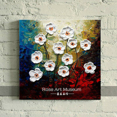 MODERN ABSTRACT HUGE WALL ART OIL PAINTING ON CANVAS- flower01 (no framed)