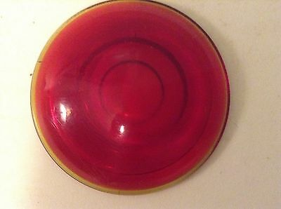 Vintage L.L . CO. No. 2829 Red Glass LENS Tail Brake STOP Old LIGHT Lamp Auto