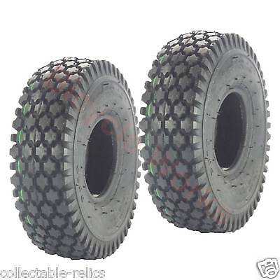 2X Tyre 4.10 / 3.50-4 Black Wheelchair Trolley Mobility Scooter Pair 4.10X4 940